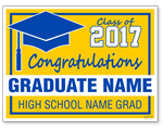 Custom Graduation Sign - 24x18 Yard Sign with Stake