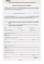 California Odometer Disclosure Form