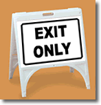 ZQuick Sign - Exit Only