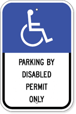 Florida Handicapped Parking Sign