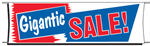 Gigantic Sale Banner - 3 x 10 Slogan