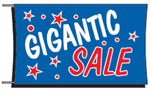 Gigantic Sale Banner - 3 x 5 Slogan
