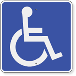 Handicap Accessible Symbol Sign 12 x 12