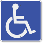 Handicap Accessible Symbol Sign 18 x 18