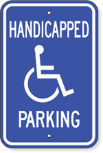Handicapped Parking With Accessible Symbol