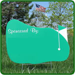 Golf Hole Sponsor Sign - Golf Green - Blank