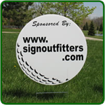 Golf Hole Sponsor Sign - Large Golf Ball