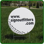 Golf Hole Sponsor Sign - Small Golf Ball