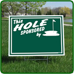 Golf Hole Sponsor Sign Blank - 24x18