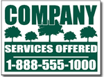 Tree Service - Lawn Signs Design LC01 - One Click Kit