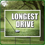 Longest Drive - Golf Outing Sign