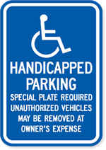 Massachusetts Handicapped Parking Sign
