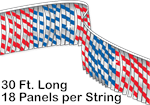 Metallic Leaf Pennant String - 30 ft Long
