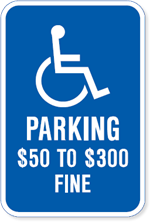 Missouri Handicapped Parking Sign