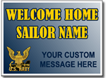 Customized Welcome Home Sailor - Navy Sign