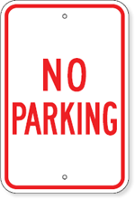 Maine No Parking Sign