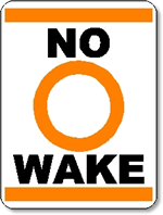 No Wake Sign