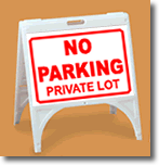 ZQuick Sign - No Parking Private Lot