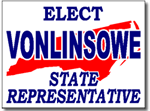 North Carolina Political Yard Sign With Stands