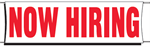 Now Hiring Banner - 3 x 10 Slogan