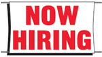 Now Hiring Banner - 3 x 5 Slogan