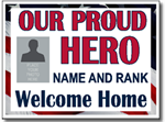 Welcome Home Sign with Picture Full Color Sign