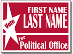 Political Yard Sign Design P101 - One Click Kit - Election Sign
