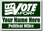 Political Yard Sign Design P103 - One Click Kit - Vote For Design