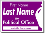 Political Signs with Stands - Design P107 - Political Yard Sign Design