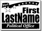 Political Sign - One Click Kit - Design P110 - Star Banner