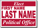 Political Yard Signs - Poster Board Sign One Click Kit - Style P11