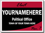 Political Yard Signs - Poster Board Sign One Click Kit - Style P202
