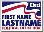 Political Signs with Stands - Design P211 - Two Color Political Design