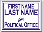 Political Signs with Stands - Design P21 - with Borders