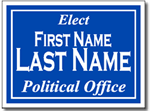 Political Yard Sign Design P41 - One Click Kit - Full Reverse