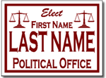 Political Yard Sign Design P51 - One Click Kit - Scales of Justice
