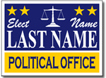 Political Signs with Stands - Design P62 - Judicial Election Signs