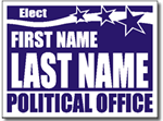 Political Sign Design P91 - One Click Kit - Stars Banner Design