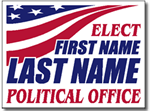 Fourth of July Political Yard Sign Design P92 - One Click Kit - Flag Design