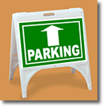 ZQuick Sign - Parking with Up Arrow