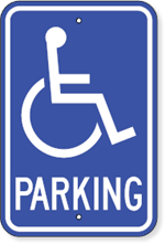 Maine Parking Sign With Handicapped Accessible Symbol