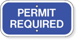 Permit Required 12 x 6