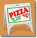 ZQuick Sign - Pizza By The Slice with Clip Art - 2 Color