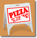 ZQuick Sign - Pizza By The Slice with Clip Art