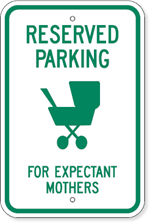 Reserved Parking For Expectant Mothers with Symbol