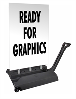 Rolling Springer XL Ready For Graphics Sidewalk Sign - Blank