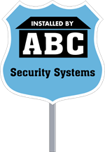 Security Yard Signs - Badge Shape - 2 Color - Stake Included