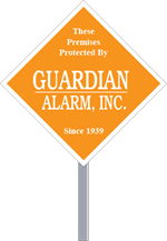 Security Yard Signs - Diamond Shape - Stake Included