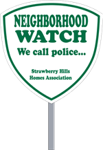 Security Yard Signs - Shield Shape - Stake Included