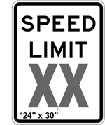 Custom Speed Limit Sign 24 x 30